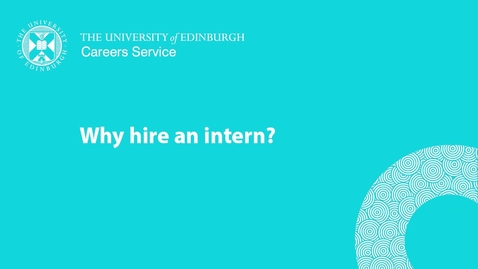 Thumbnail for entry Why hire an intern
