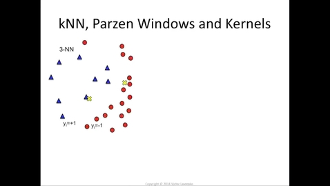 Thumbnail for entry Parzen windows, kernels and SVM