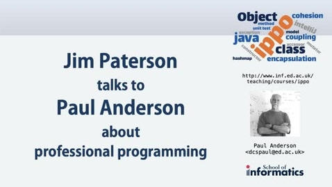 Thumbnail for entry Jim Paterson talks to Paul Anderson