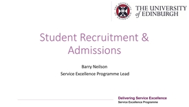 Thumbnail for entry Student Recruitment and Admissions