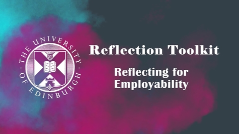 Thumbnail for entry Reflecting for Employability