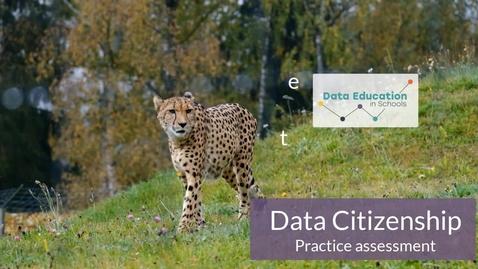 Thumbnail for entry Data Citizenship Level 4-5 Zoo activity Part 6b