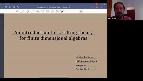 Thumbnail for entry Hipolito Treffinger: Tau-tilting theory for finite dimensional algebras