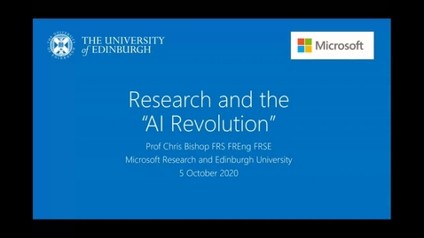 "Thumbnail for entry Research and the ""AI Revolution"" 