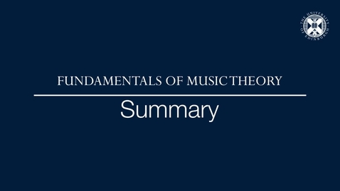 Thumbnail for entry Fundamentals of music theory - Summary