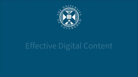 Thumbnail for entry Summaries and page titles - Effective Digital Content