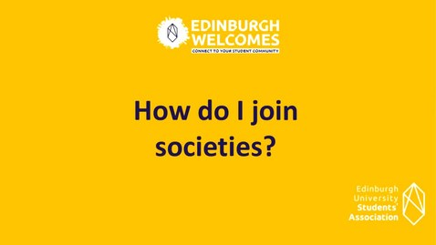 Thumbnail for entry PG How to join student societies