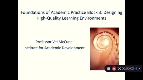 Thumbnail for entry Introduction to Course Design Block 3 PGCAP 2020