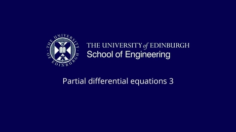 Thumbnail for entry Parabolic PDE Analytical methods Part 6: Spherical coordinates