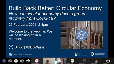 Thumbnail for entry Build Back Better: Circular Economy