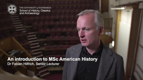 Thumbnail for entry An introduction to MSc American History
