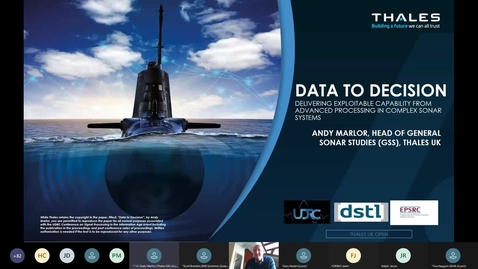 Thumbnail for entry Data to Decision' – Delivering Exploitable Capability from Advanced Processing in Complex Sonar Systems