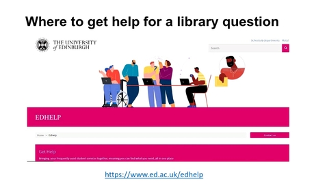 Thumbnail for entry How to access the help and support you need to use online library resources