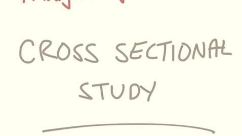 Thumbnail for entry Cross sectional study - calculating measure of association