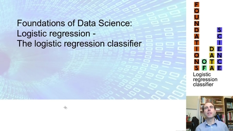 Thumbnail for entry FDS-S2-02-2-4 The logistic regression classifier