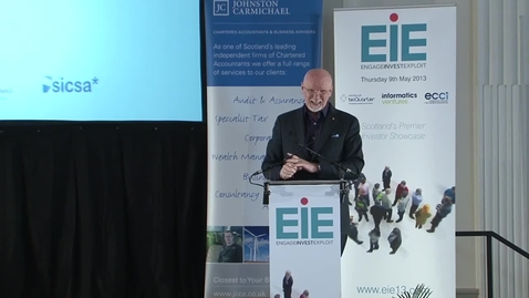Thumbnail for entry Sir Tom Hunter EIE 2103 Keynote