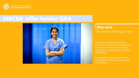 Thumbnail for entry MBChB Offer Holder Q&A_1 May 2020