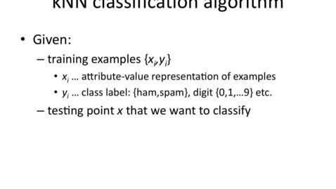 Thumbnail for entry Nearest-neighbor classification algorithm