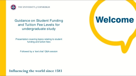 Thumbnail for entry Guidance on student funding and fee levels