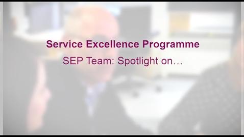 Thumbnail for entry SEP team: Spotlight on. . .