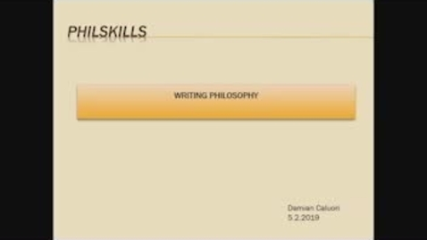 Thumbnail for entry Greats: PhilSkills: How to write a philosophy essay