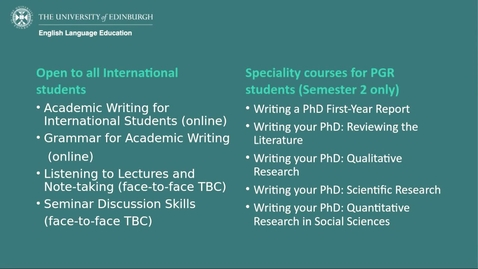 Thumbnail for entry How To improve your academic English skills for international students