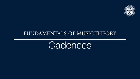 Thumbnail for entry Fundamentals of music theory - Cadences