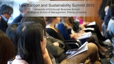 Thumbnail for entry Low Carbon and Sustainability Leadership Summit 2015
