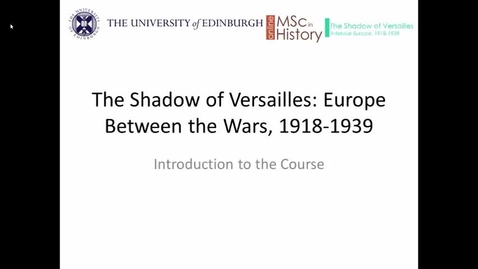Thumbnail for entry Online MSc in History taster course: introductory screencast