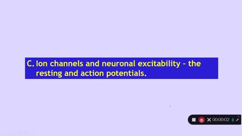 Thumbnail for entry Medical Sciences 1: How does the CNS work? Part 3 Dr Phil Larkman