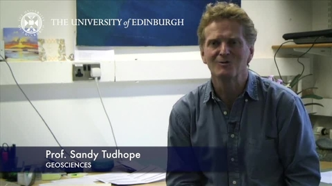 Thumbnail for entry Sandy Tudhope - Geoscience- Research In A Nutshell - School of GeoSciences -29/03/2013