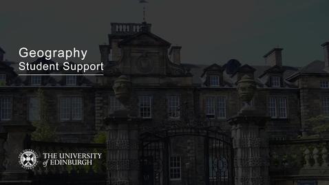 Thumbnail for entry Geography in Joint Degrees - Student Support - Dr Dan Swanton
