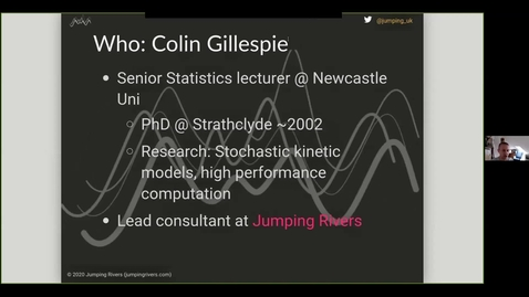 Thumbnail for entry Research and teaching in statistical and data sciences - Colin Gillespie