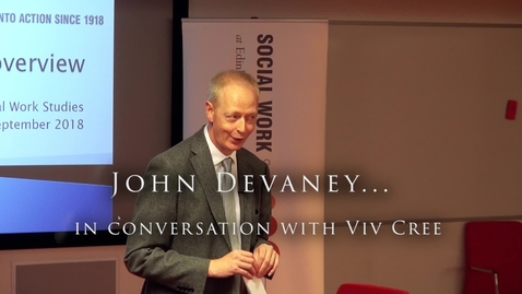 Thumbnail for entry John Devany...  in conversation with Viv Cree