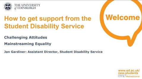 Thumbnail for entry (UG/PG) How-to get support from the Student Disability Service (SDS)