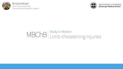 Thumbnail for entry Limb-threatening injuries