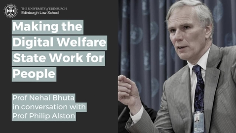 Thumbnail for entry Making the Digital Welfare State Work for People