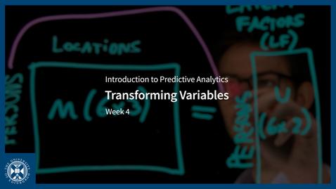 Thumbnail for entry Transforming Variables