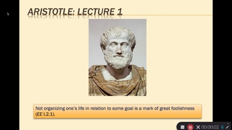 Thumbnail for entry Aristotle Lecture 1.1