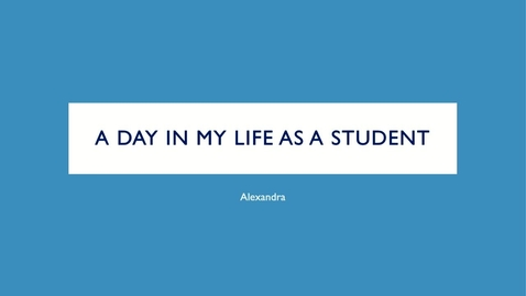 Thumbnail for entry YourEd: A Day in Life of a Medicine Student.mp4