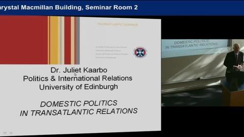 Thumbnail for entry Juliet Kaarbo (University of Edinburgh)