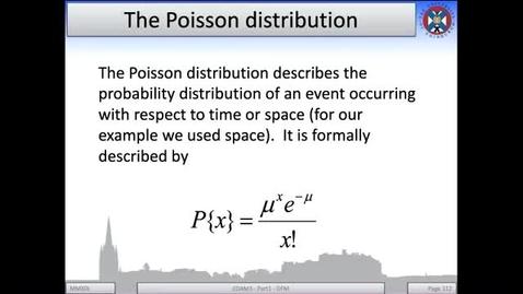 Thumbnail for entry 4b - Poisson Distribution