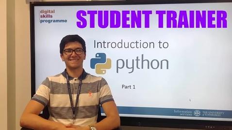 Thumbnail for entry Ignat Georgiev, Student Trainer, Digital Skills and Training Team
