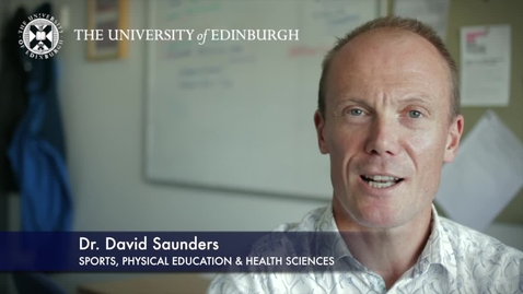 Thumbnail for entry David Saunders-Sports,Physical Education & Health Sciences-Research In A Nutshell-The Moray House School of Education-22/10/2012