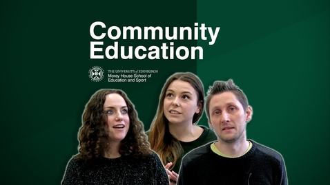 Thumbnail for entry 4th year students share why they enjoy studying Community Education