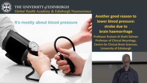 Thumbnail for entry Another good reason to lower blood pressure: stroke due to brain haemorrhage