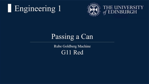 Thumbnail for entry Rube Goldberg Machine G11 Red