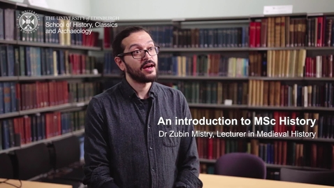 Thumbnail for entry An introduction to MSc History
