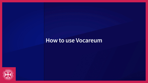 Thumbnail for entry How to use Vocareum