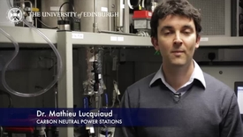 Thumbnail for entry Mathieu Lucquiaud- Carbon Neutral Power Stations - Research In A Nutshell - School of Engineering -07/04/2014